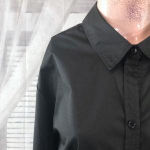 George Black Button Down Shirt, Size 3X (22W-24W)